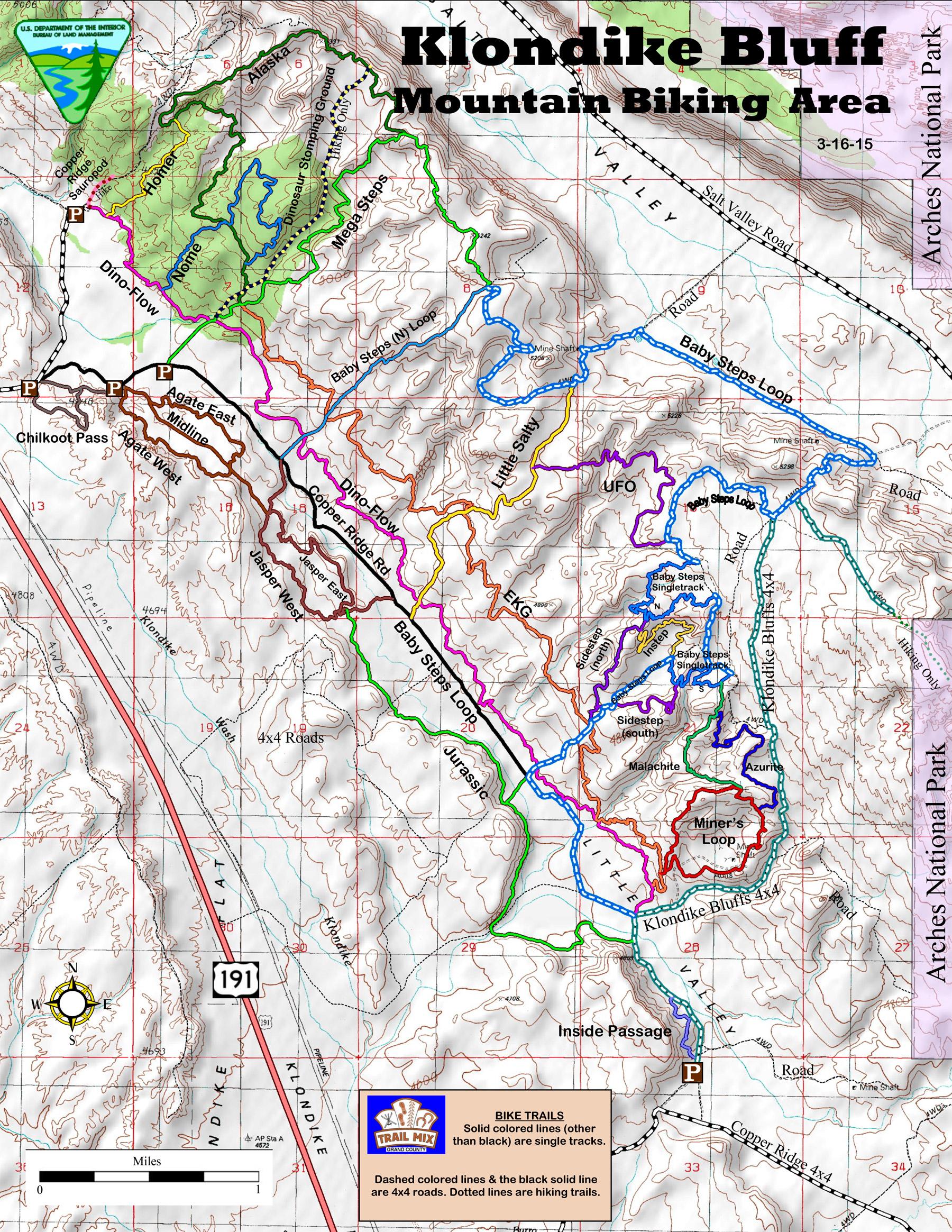 Trail Guide for Mountain Biking in Moab Utah