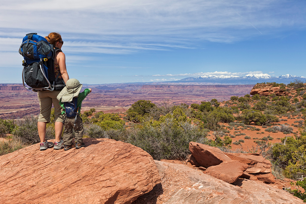 Toddler in Canyonlands